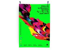 Fête de la musique 2012 #abstract #color #poster #neon