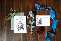 wedding invitations #plum #floral #something #vintage #purple #moody #gray #blue #wedding #grey