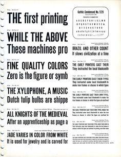 Gothic Condensed № 529 font specimen