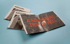 Morey Talmor – Graphic Design | A NIGHTMARE TRIP TO HELL #type #print #booklet