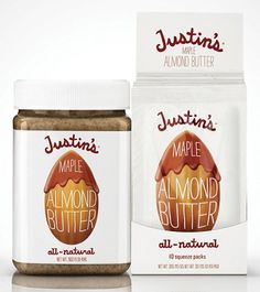justins1.jpg (538×603) #butter #almond #design #clean #simple #justins #made #cute #type #hand #package