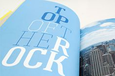 Photo book NYC — Florida on Behance #usa #america #new #print #design #graphic #book #travel #nyc #york #blue #typography