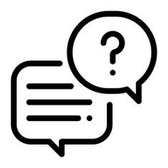 See more icon inspiration related to question, chat, talk, text, conversation, answer, commerce and shopping, communications, speech bubble and message on Flaticon.