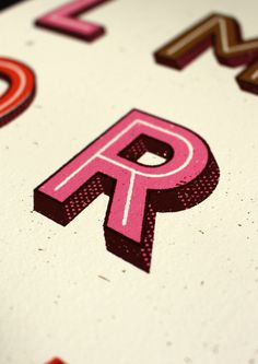 R - Detail of a print by Telegramme #print #alphabet #screenprint #texture