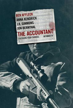 The Accountant, P+A #movie #film #poster