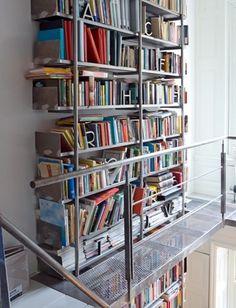 CONVOY #architecture #metal #interiors #bookcase #balcony