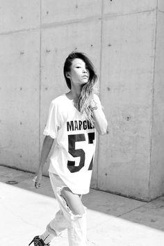 tumblr_myl1giUYHf1rqik73o1_500.jpg (500×750) #girl #model #hair #black and white #woman #female
