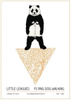 Frick (19th Jan.) #panda #orange #triangle #poster #bear