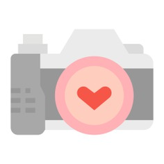 See more icon inspiration related to camera, love, love and romance, valentines day, photo camera, electronics, image, photography, interface, picture, photo and technology on Flaticon.