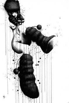 NOIR (2011) - sit #illustration #painting