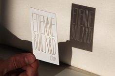 --ETIENNE BOILARD-- : Karim Charlebois-Zariffa #type #card #shadow