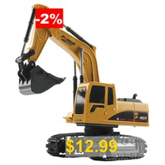 1022 #1:24 #4DW #Remote #Control #Crawler #Excavator #- #GOLDENROD