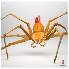 Jeremy Kool | Fubiz™ #orange #yellow #red #spider
