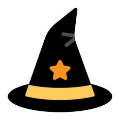 See more icon inspiration related to halloween, magic, witch, hat, wizard, magician, fashion, witch hat and costume on Flaticon.