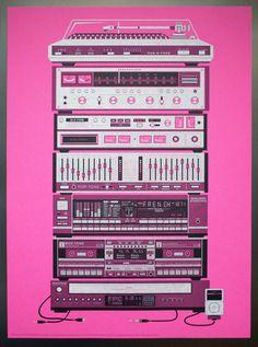 illustration #stereo #illustration #music #av