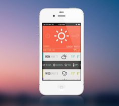 Weatherette - Weather Mobile App UI Design