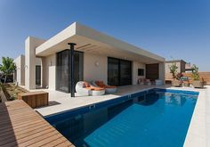 When Free Movement and Harmony Collide: Pool Family Home in Israel #architecture