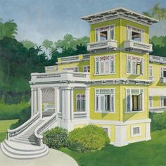 La Mansion En Montagnes by Emilio Sanchez #art