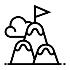 See more icon inspiration related to top, flag, challenge, sports and competition, top of mountain, peaks, mountain peak, adventure, mountains, sports and nature on Flaticon.