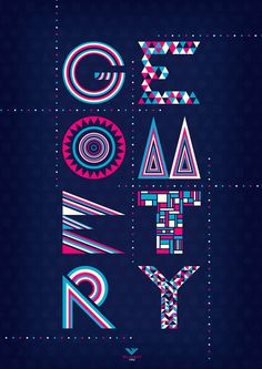 betype:GEOMETRY by ~Waterboy1992 #type #geometry #colours