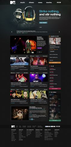 MTV.com Redesign by Oğuz Atılan #web