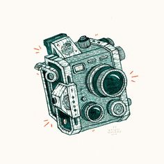 """RADAR"" Exhibition by Bruce Mackay #mackcay #camera #bruce #illustration #radar"
