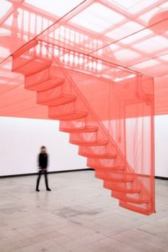 Tumblr #fabric #red #installation #design #art #stairs
