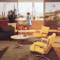 Beautiful Vintage Herman Miller Offices Interior Furnitures