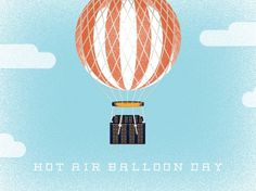 Dribbble - balloon-day_attach.jpg by Doug Penick #holidays #air #of #hot #balloon #doug #june #day #penick