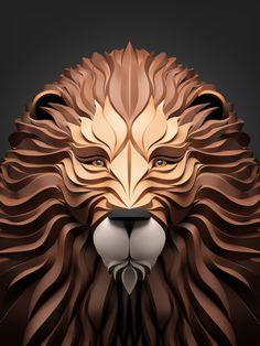 Predators #sculpture #portrait #lion