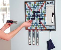 Scrabble Game And Message Board #notes #gadget #home