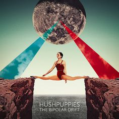 Julien Pacaud / Hushpuppies / colagene.com #sky #gym #cliff #strech #galaxy #surrealistic #moon