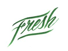 Fresh Sketch on Behance #green #fresh #lettering #typography