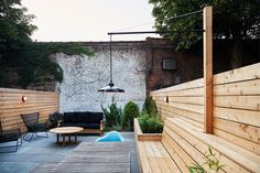 Modern in Bed Stuy contemporary patio #patio #bench #modern