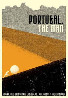 Portugal. The Man poster for their show at The Blue Note in Columbia, MO by Drew Roper. Designed in collaboration with Ryan Paule.