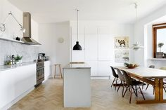 Airy apartment designed by Emma Persson Lagerberg #interior