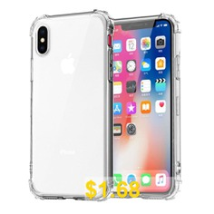 SZKINSTON #Four #Corners #Super #Shockproof #Soft #TPU #Back #Cover #Case #for #iPhone #XR #- #TRANSPARENT