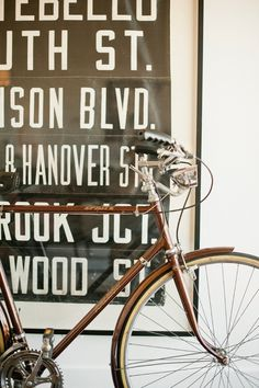 brown bike frame #frame #bicycle #brown #vintage #bike