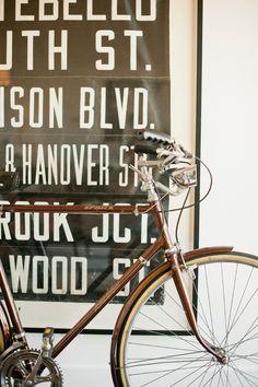 brown bike frame