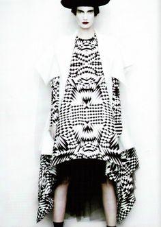 Valerija Kelava by Paolo Roversi for Vogue Italia, February 2011 #fabric