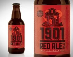 Graphic-ExchanGE - a selection of graphic projects #packaging #beer #ale #red