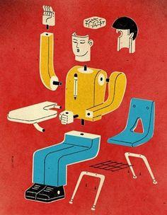 David Plunkert | Block Illustration #david #plunkertt