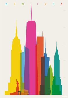 Shapes of Cities : Yoni Alter #illustration #skyline #cities #overprinting #yoni alter