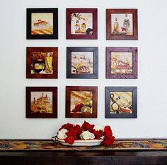 Small paintings for kitchen wall