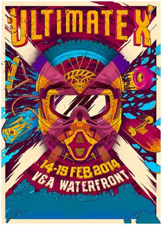 Ultimate X #event #illustration #vibrant #poster