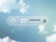 Dribbble - Weather Pop-up by Bart Ebbekink #app #weather