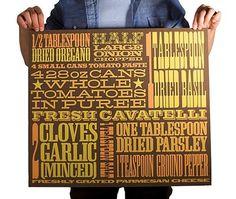 FFFFOUND! | cassaro2.jpg (JPEG Image, 500x423 pixels) #recipe #poster #typography