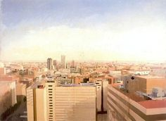 Madrid vista desde Capitan Haya #urban #spain #madrid #city #illustration #painting #art #lopez