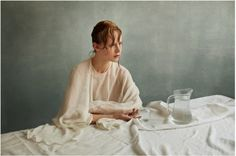 Photography by Julia Hetta I Art Sponge #wet #hair #portrait #painting #fashion #hetta #julia