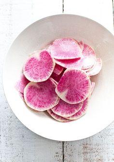 peeled radishes